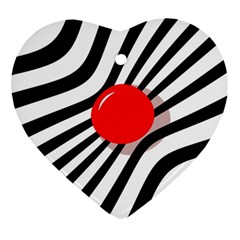 Abstract red ball Heart Ornament (2 Sides)