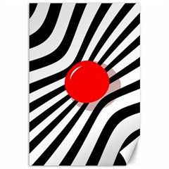 Abstract red ball Canvas 12  x 18