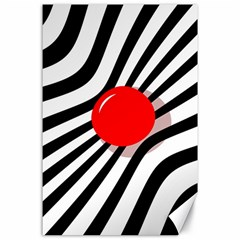 Abstract red ball Canvas 24  x 36