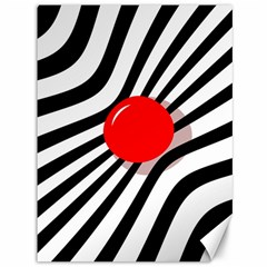 Abstract red ball Canvas 36  x 48