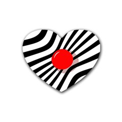 Abstract red ball Heart Coaster (4 pack)