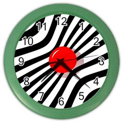 Abstract red ball Color Wall Clocks
