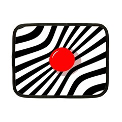 Abstract red ball Netbook Case (Small)