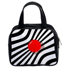 Abstract red ball Classic Handbags (2 Sides)