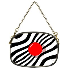 Abstract red ball Chain Purses (One Side)