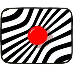 Abstract red ball Double Sided Fleece Blanket (Mini)