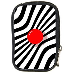 Abstract red ball Compact Camera Cases