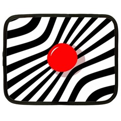 Abstract red ball Netbook Case (XL)