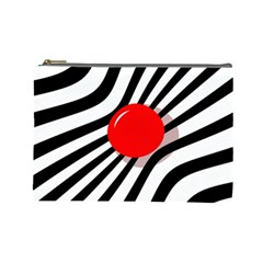 Abstract red ball Cosmetic Bag (Large)