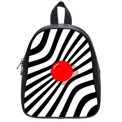Abstract red ball School Bags (Small)