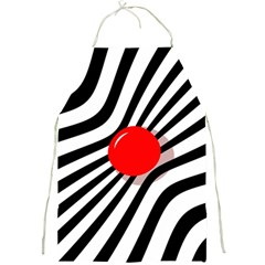 Abstract red ball Full Print Aprons