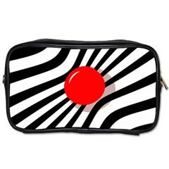 Abstract red ball Toiletries Bags 2-Side