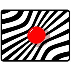 Abstract red ball Fleece Blanket (Large)