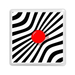 Abstract red ball Memory Card Reader (Square)