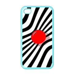 Abstract red ball Apple iPhone 4 Case (Color)