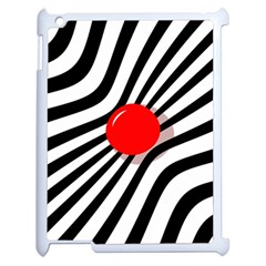 Abstract red ball Apple iPad 2 Case (White)