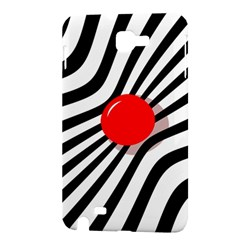 Abstract red ball Samsung Galaxy Note 1 Hardshell Case