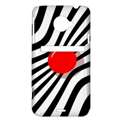 Abstract red ball HTC Evo 4G LTE Hardshell Case