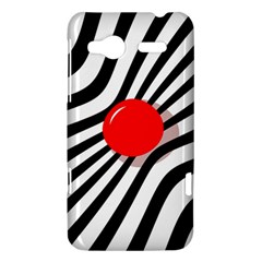 Abstract red ball HTC Radar Hardshell Case