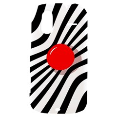 Abstract red ball HTC Amaze 4G Hardshell Case