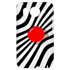 Abstract red ball HTC Desire HD Hardshell Case