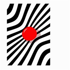 Abstract red ball Large Garden Flag (Two Sides)
