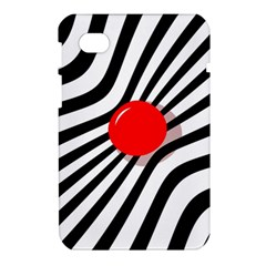 Abstract red ball Samsung Galaxy Tab 7  P1000 Hardshell Case