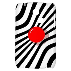 Abstract red ball Samsung S3350 Hardshell Case