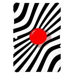 Abstract red ball Samsung Galaxy Tab 10.1  P7500 Hardshell Case