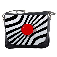 Abstract red ball Messenger Bags