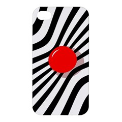 Abstract red ball Apple iPhone 4/4S Premium Hardshell Case
