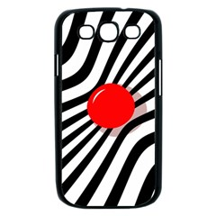 Abstract red ball Samsung Galaxy S III Case (Black)