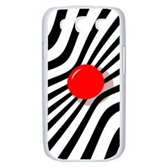 Abstract red ball Samsung Galaxy S III Case (White)