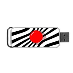 Abstract red ball Portable USB Flash (One Side)
