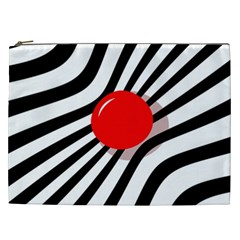 Abstract red ball Cosmetic Bag (XXL)