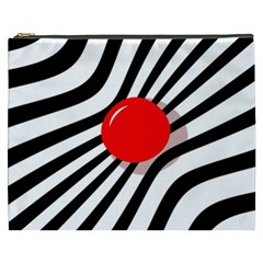 Abstract red ball Cosmetic Bag (XXXL)