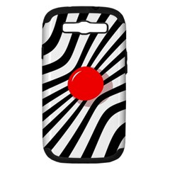 Abstract red ball Samsung Galaxy S III Hardshell Case (PC+Silicone)