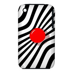 Abstract red ball Apple iPhone 3G/3GS Hardshell Case (PC+Silicone)