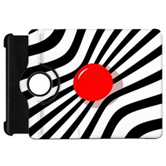 Abstract red ball Kindle Fire HD Flip 360 Case