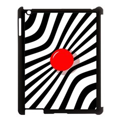 Abstract red ball Apple iPad 3/4 Case (Black)