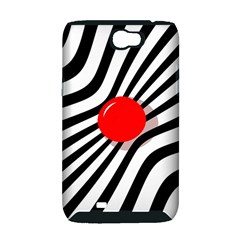 Abstract red ball Samsung Galaxy Note 2 Hardshell Case (PC+Silicone)
