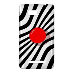 Abstract red ball HTC One SU T528W Hardshell Case