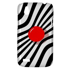 Abstract red ball HTC Desire V (T328W) Hardshell Case