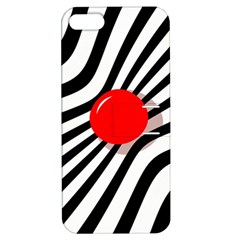 Abstract red ball Apple iPhone 5 Hardshell Case with Stand