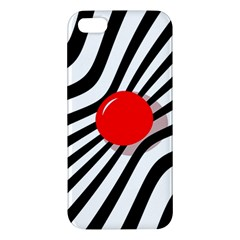 Abstract red ball Apple iPhone 5 Premium Hardshell Case