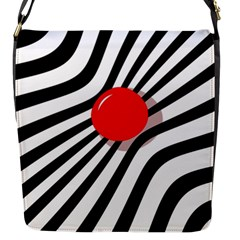 Abstract red ball Flap Messenger Bag (S)