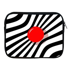 Abstract red ball Apple iPad 2/3/4 Zipper Cases
