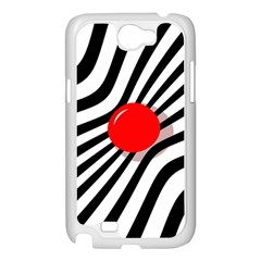 Abstract red ball Samsung Galaxy Note 2 Case (White)