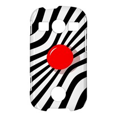 Abstract red ball Samsung Galaxy S7710 Xcover 2 Hardshell Case
