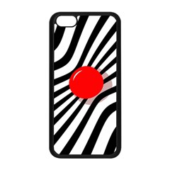 Abstract red ball Apple iPhone 5C Seamless Case (Black)